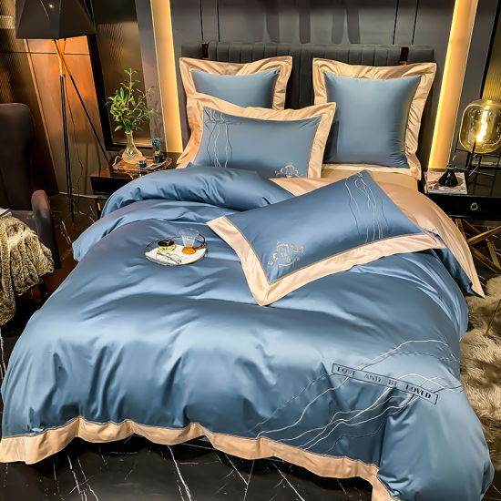 Egyptian Long-Staple 100% Cotton Luxury Silk Texture Soft Bedding Sets