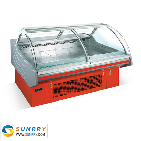 Supermarket Deli Meat Display Counter Refrigeration
