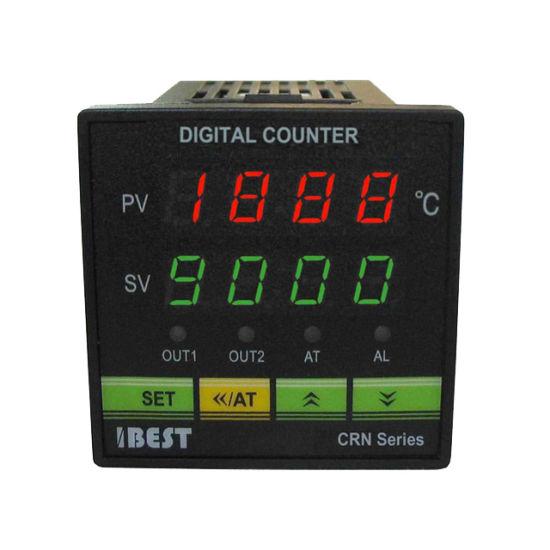 CRN 4 LED Display Digital Electronic Pulse Length Counter Meter 1 Preset 24V/AC220V/110V (IBEST)