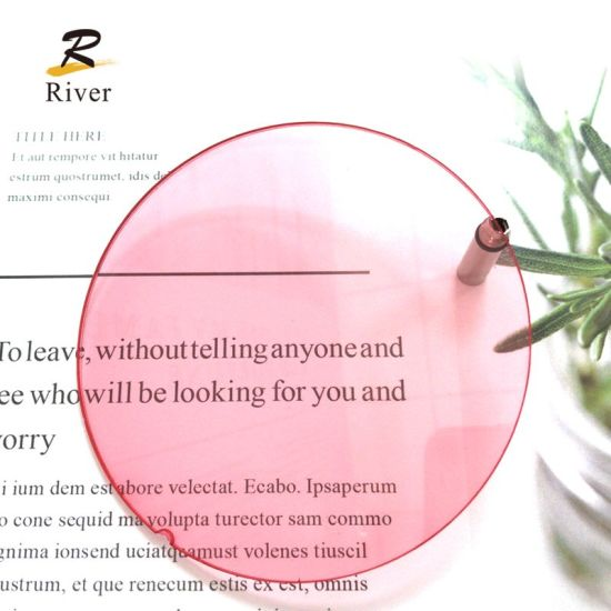 Danyang River Optical Cr39 Tinted Red Lens