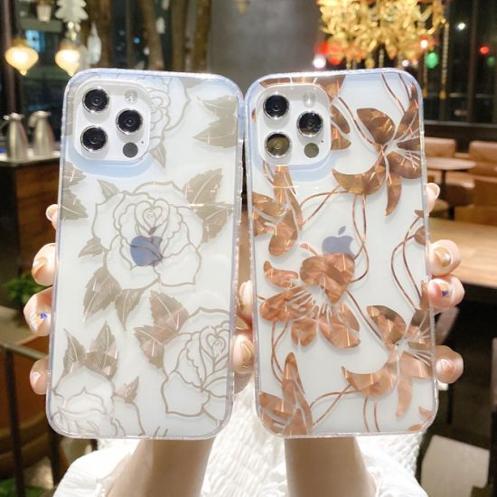 High Quality Wholesale Mobile Phone Case Ultra-Thin Printed Transparent Soft TPU Back iPhone Case