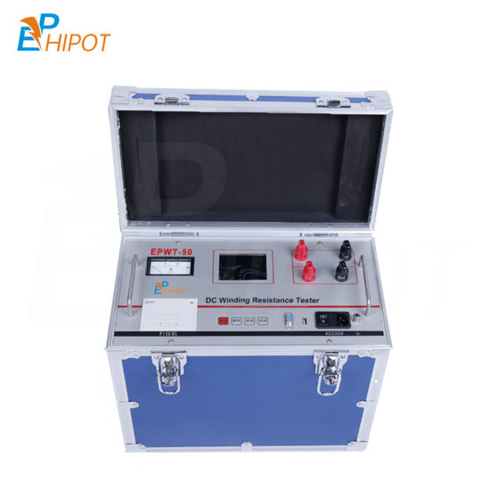 DC Winding Resistance Tester Epwt-50A Automatic Transformer DC Winding Resistance Tester Power Electronic