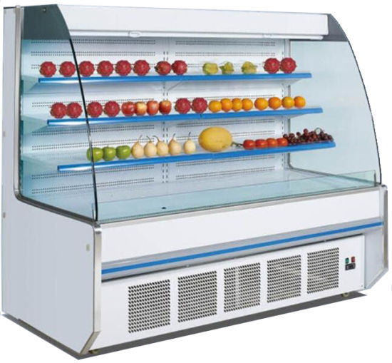 Front Open Chiller for Fruits Vegetables with Night Curtains (SBG-20)