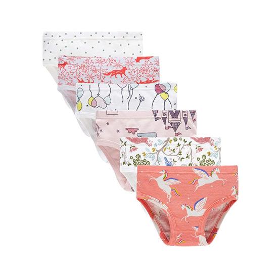 Bkd Gots Organic Cotton Custom Printing Girl Underwears