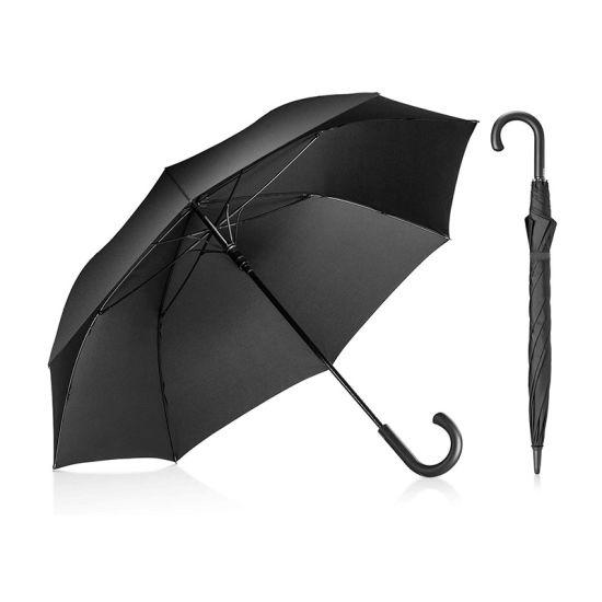 Stick Umbrella, Auto Open Windproof Umbrella with 51 Inch Large Canopy Waterproof and J Handle Golf Umbrella for Men Women (YZ-20-57)