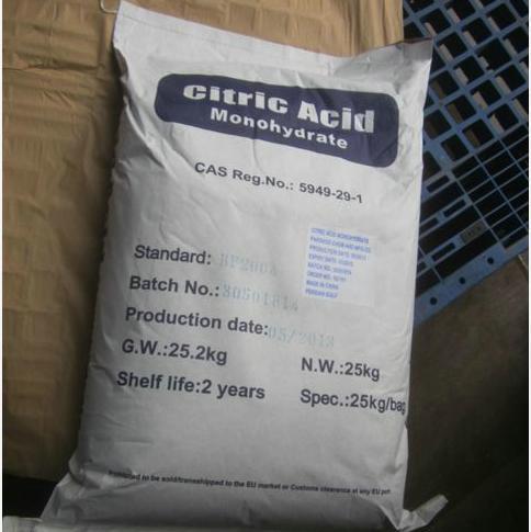 Citric Acid Monohydrate E330 CAS No. 5949-29-1