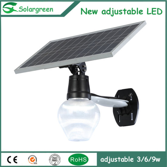 Brightness Adjustable High Quality Solar Garden Moon Type Light pictures & photos