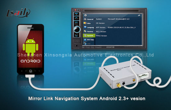 China Mirror Link Navigation Through USB Connection Sync with Smart