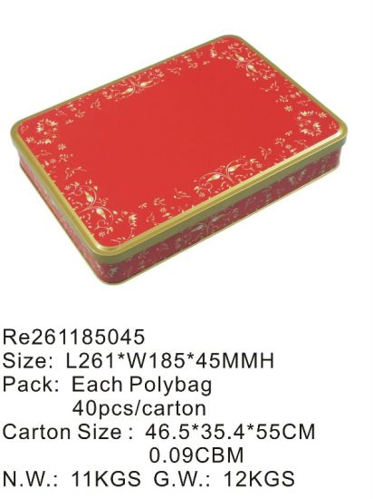 Red Color Tin Box pictures & photos