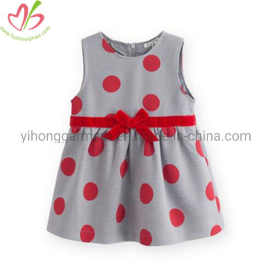 Summer Lovely Girls Dress Kids Cotton Polka Dots Sundress