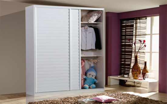 Sliding Door Wardrobe Wooden Closet Set (zy-001)