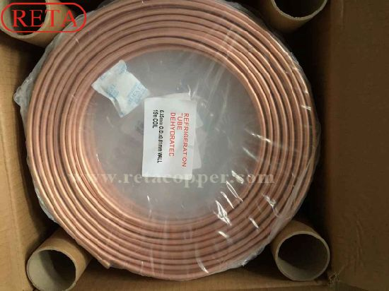 Soft Temper Refrigeration Copper Tube Pancake Coil pictures & photos