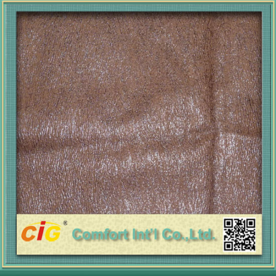 Bronzed Faux Suede Fabric Shsf04520 pictures & photos