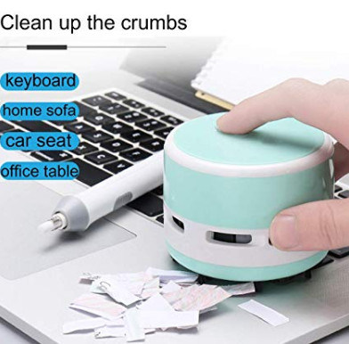 Mini Crumb Vacuum Cleaner Portable Desktop Sweeper Handheld Cordless Multi-Functional Cleaning for Home, Office, Cars, Pet Hairs
