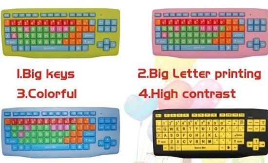 Color Larger Printting PC Keyboard K801