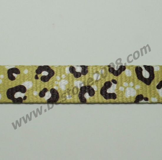 High Quality Polyester Webbing with Heat Transfer Printing pictures & photos