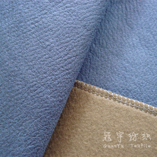 China Faux Leather Bonded Upholstery Fabric Home Textile Sofa Fabric
