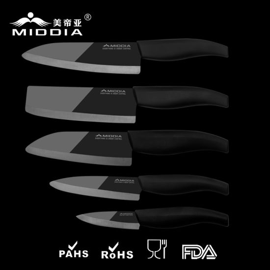 Noble Knife Ceramic Kitchen Knife Set in Mirror Blade pictures & photos