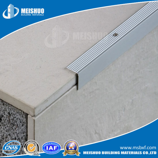Building Products Stair Edging Metal Stair Nose With Aluminum Frame
