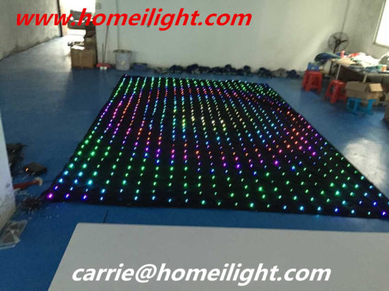 LED Video Curtain P5cm RGB Full Color Vision Curtain pictures & photos