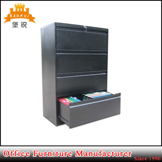 Fas-003-4D Steel Office Chest Metal Powder Coating Furniture 4 Drawers Filing Storage Cabinet pictures & photos