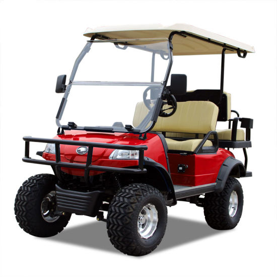 Electric Buggy Golf Cart Hunting Car (DEL2022D2Z, red)