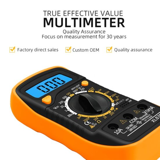 Mini Size 143*72*37mm Overload Protection XL830L Smart Digital Multimeter with Data Retention Function