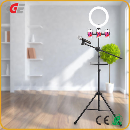 8 Inch RGB Rainbow Dimmable Ring Light Selfie LED Ring Fill Light 20cm Color Fill Light with Mobile Phone Clip