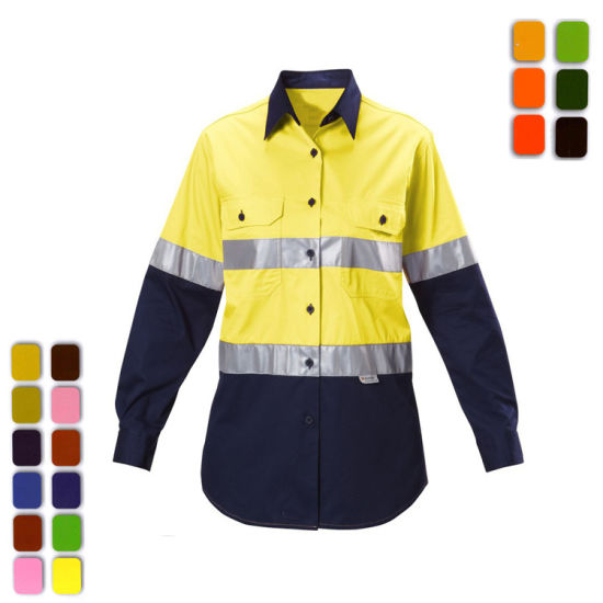 Reflective Safety Clothing Fluorescent Safety High Visibility Clothing for Men Reflective Safety Shirt with Reflective Strip Production Overalls Welcome OEM