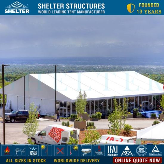 Outdoor Luxury White PVC Event Party Reception Marquee Tent for 200-500 People