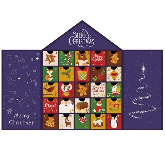 Custom Blind Box Countdown Calendar Gift Box Christmas Advent Gift Paper Packaging Carton