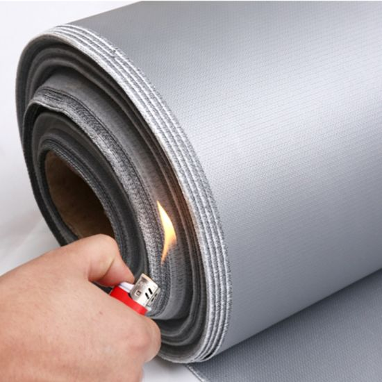 Heat Insulation Fiber Glass Cloth Silicone Rubber Coated Fiberglass Fabric