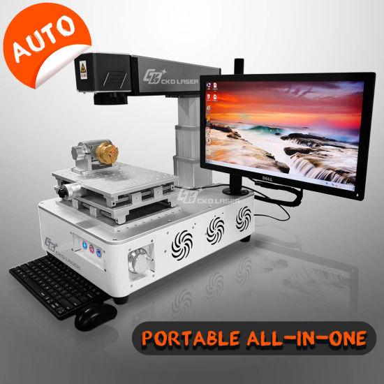 Portable Auto Focus Fiber Laser Marking CNC Engraving Machines for Metal Plastic Logo Printing Mobile Phone Case Jewelry Brand Printer 20W 30W 50W