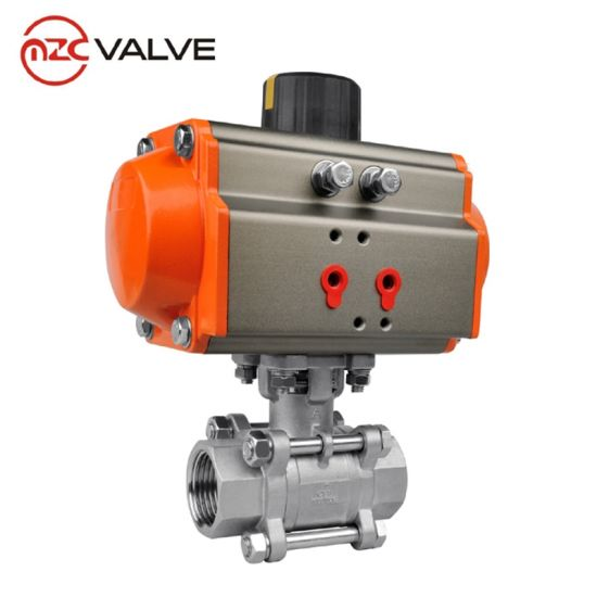Stainless Steel Pneumatic Control Ball Valve with Mounting Pad