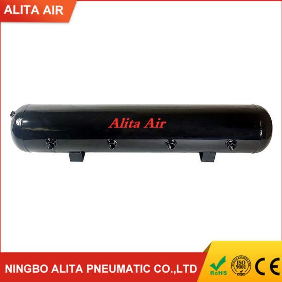 airmaxxx Steel Air Tank 5 Gallon 9 Port Black