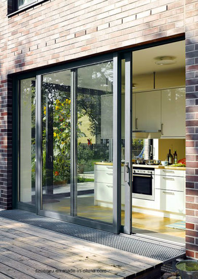 Superhouse Aluminium Tempered Glass Sliding Door with Australian Standard As2047 pictures & photos