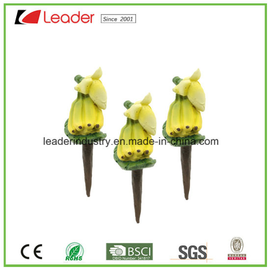 Mini Polyresin Mango Fruit Figurine Stakes for Home and Garden Decoration pictures & photos