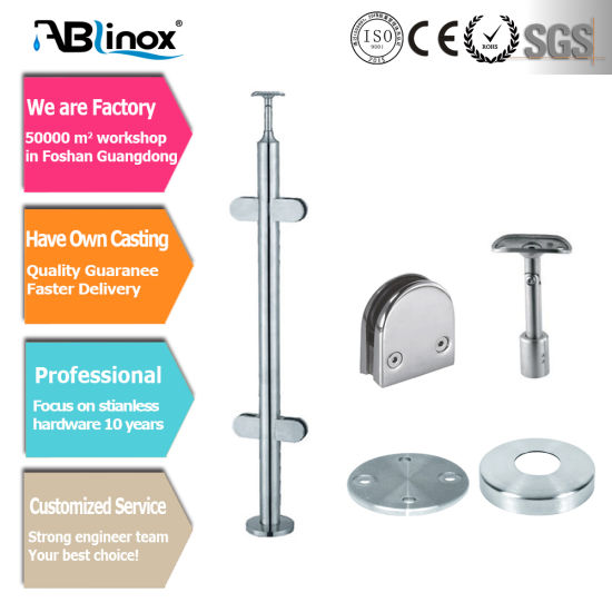 Stainless Steel Staircase Railing System Rail Parts Handrail Glass Fittings