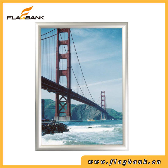 A4 Size Aluminium Wall-Mounted Clip Snap Frame pictures & photos