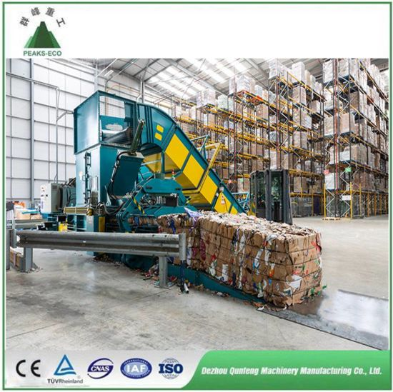 High Quality Baler Machine for Occ, Garbage, Waste Paper, Cardboard, Straw, Plastic, Pet/Hydraulic Baling/Horizontal/ Recycling Baler/Automatic/Auto Tie