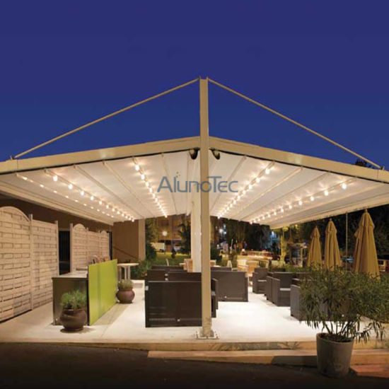 Gazebo Motorized PVC Retractable Awning