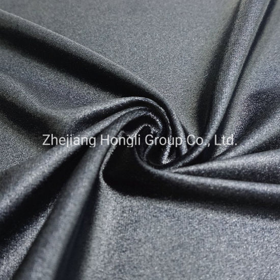 90%Polyester 10%Spandex Knitted Velvet Fabric Soft Handle