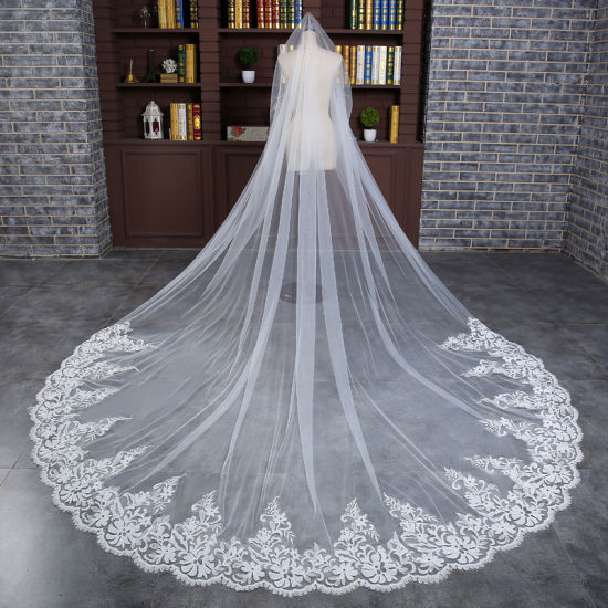 Wholesale Lace Long Bridal Wedding Veils Ts5505
