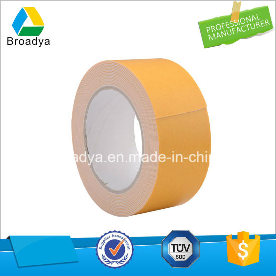 3.0mm Glassine Paper Double Sided EVA Foam Tape/Solvent Base (BY-ES30) pictures & photos