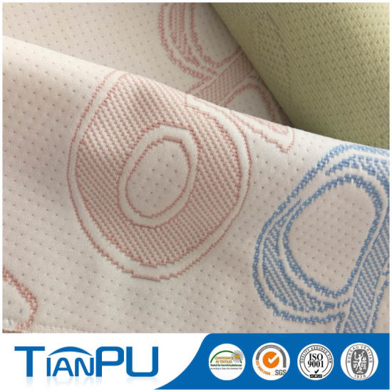 Knitted Jacquard Mattress Ticking Fabric for Memory Foam Mattress pictures & photos