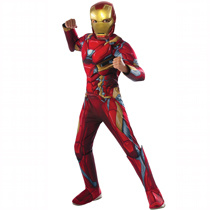 Child Iron Man Deluxe Muscle Chest Superhero Costume