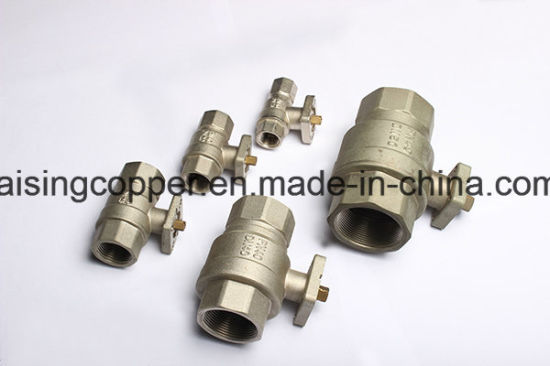 Brass Ball Valve with Mounting Pad pictures & photos