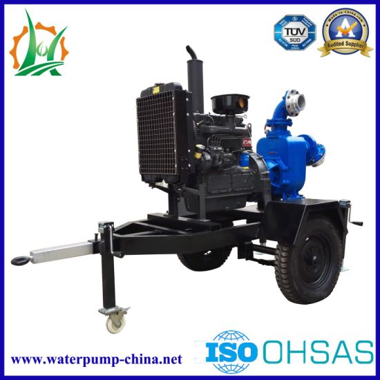 Zw Series Trailer Mounted Diesel Engine Self-Priming Sewage Pump pictures & photos