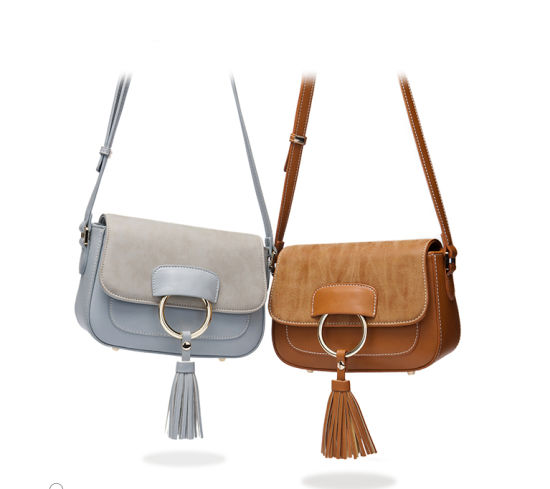 eda6b2aef986 2017 New Designer Imiation Suede Trim/PU Leather Tassel Crossbody Handbag  for Women pictures &