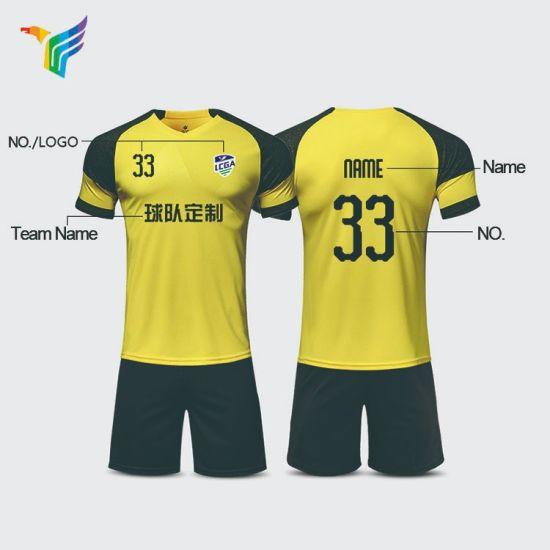 b13b71ee588 Any Design Free Sample Futball Sport Team Club Sublimation Kids Custom Sets Soccer  Jerseys Football Shirts